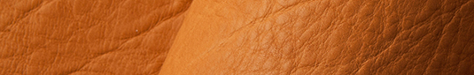 Saddle tan buffalo leather hides and sides